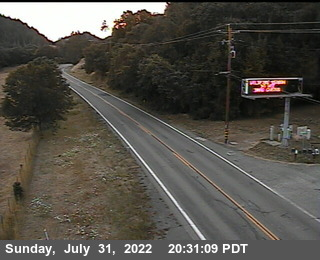 Route 20 Cameras at Highway 101, Mendocino County in Northern California!