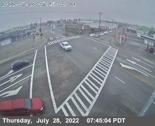 US 101 at 14th, Eureka California, courtesy CalTrans