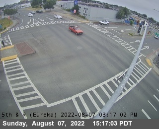 US101 (5th)and R Streets webcam on Highway 101, Eureka, Humboldt County in Northern California!