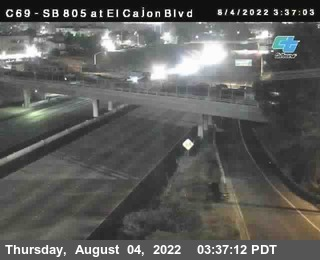 (C069) I-805 : El Cajon Boulevard (On Ramp)