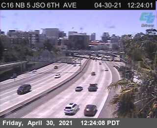 I-5 : Just South Of 6th Avenue