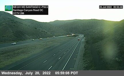 SR-241 : 1700 Meters North of Santiago Canyon Road Overcross