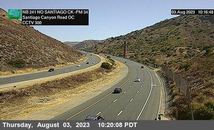 SR-241 : 2600 Meters North of Santiago Canyon Road Overcross