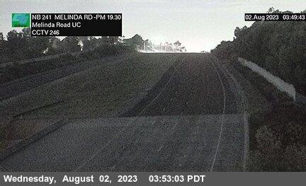 SR-241 : 30 Meters South of Melinda Road Undercross