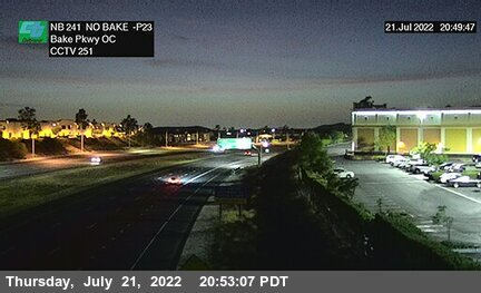 SR-241 : 310 Meters North of Bake Parkway Overcross