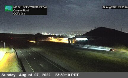 SR-241 : 50 Meters South of Bee Canyon Road
