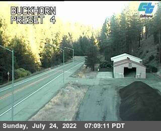 Buckhorn Summit webcam on State Route 299, Trinity County in Northern California!