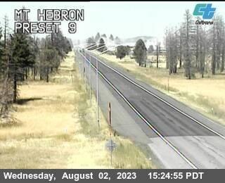 Highway 97 at Mt. Hebron, California, courtesy CalTrans http://www.dot.ca.gov
