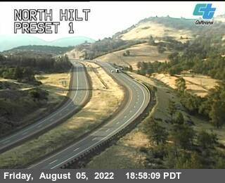 Interstate 5 at Hilt California, just south of Siskiyou Pass. Courtesy CalTrans http://www.dot.ca.gov