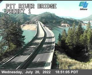 Interstate 5 at Pit River Bridge, Lake Shasta California, courtesy CalTrans http://www.dot.ca.gov