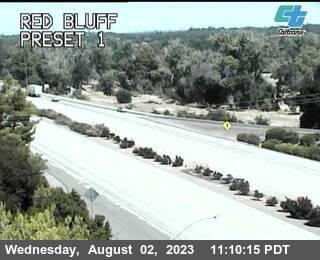 Interstate 5 at Red Bluff California.  Courtesy CalTrans  http://www.dot.ca.gov