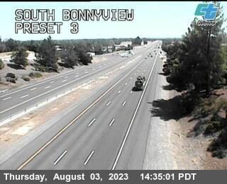 Interstate 5 at South Bonnyview Road, Redding, California,courtesy CalTrans http://www.dot.ca.gov