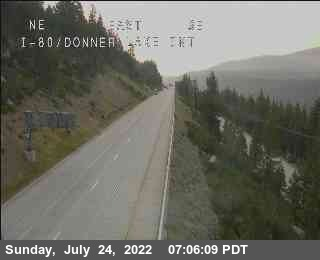 Hwy 80 at Donner Lake