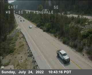 Hwy 80 at Kingvale WB