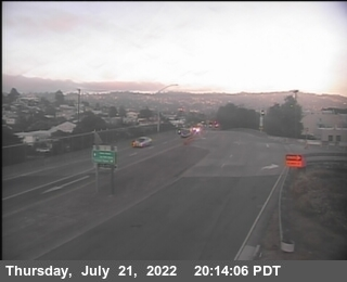 T256S -- I-80 : Buchanan Street  Offramp South View