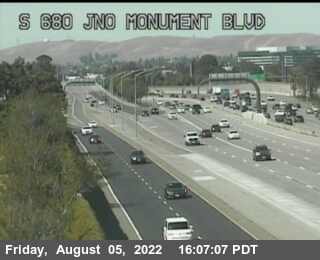 TV818 -- I-680 : North Of Monument Blvd
