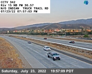 I-15 : (342) North of Indian Truck Trail Road