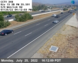 I-15 : (348) South of Werick Road