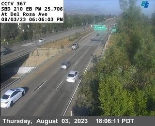 I-210 : (367) Del Rosa Ave Off Ramp