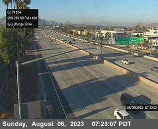 I-215 : (104) South Of Orange Show