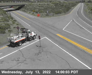 Cal Trans Webcam Hwy 203 to 395 on ramp south bound
