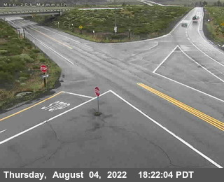 Cal Trans Webcam Hwy 203 Chain Up Area